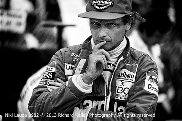 Race car driver Niki Lauda photographed by Richard Kelley