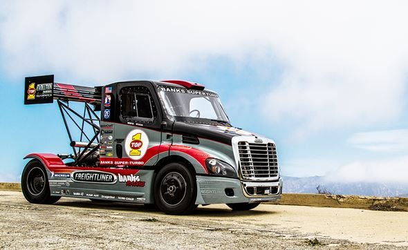 Turbo charged Freightliner entered in Pikes Peak Hill Climb