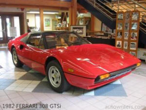 A 1982 Ferrari 308 GTSi, from the family of the most recognized of all Ferrari models, is being offered by the Racing Research Center as its 2013 raffle car.