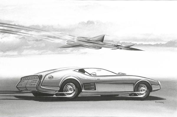1968 Mustang Proposal. Sketch by Homer LaGassey