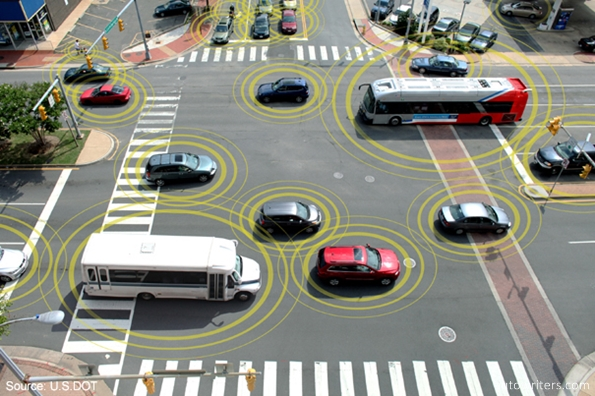 Connected vehicles can help to prevent crashes at busy intersections.