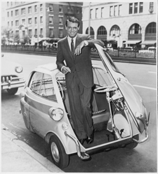 Cary Grant in BMW Isetta