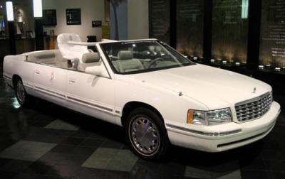 "Cadilla De Ville Parade Phateon ""Popemobile"" Photo Courtesy of Petersn Automobile Museum"